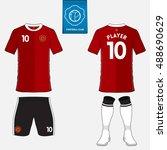 set of soccer jersey or... | Shutterstock .eps vector #488690629