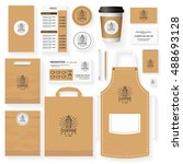 coffee house corporate identity ... | Shutterstock .eps vector #488693128