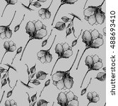floral pattern with floral... | Shutterstock . vector #488693410