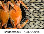 steamed crabs with spices.... | Shutterstock . vector #488700046