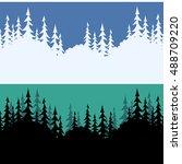set seamless horizontal... | Shutterstock .eps vector #488709220