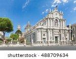catania  sicily  italy   jul 25 ... | Shutterstock . vector #488709634