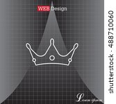 crown line icon   Shutterstock .eps vector #488710060