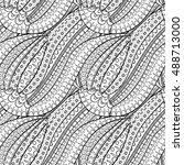 tracery seamless calming... | Shutterstock .eps vector #488713000