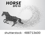 horse of the particles. the... | Shutterstock .eps vector #488713600
