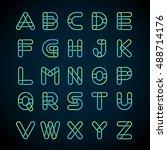 type letters set logo design... | Shutterstock .eps vector #488714176