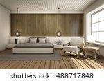 bedroom interior design modern  ... | Shutterstock . vector #488717848