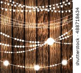 set of glowing white string... | Shutterstock .eps vector #488718634