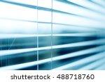 blinds  jalousie  arching ... | Shutterstock . vector #488718760