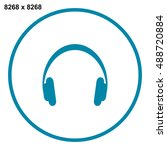 headphone icon vector | Shutterstock .eps vector #488720884