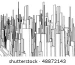 abstract urban city of... | Shutterstock .eps vector #48872143