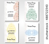 set brochures design with a... | Shutterstock .eps vector #488722540