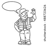 coloring picture or coloring...   Shutterstock .eps vector #488723626