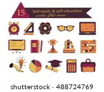 self study and education themed ... | Shutterstock .eps vector #488724769