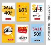 set of sale website banner... | Shutterstock .eps vector #488726734