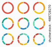 vector circle arrows for... | Shutterstock .eps vector #488728270