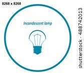 bulb icon vector   Shutterstock .eps vector #488742013
