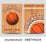 univercity basketball brochure... | Shutterstock .eps vector #488745634