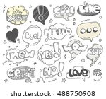different sketch style words... | Shutterstock .eps vector #488750908
