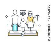 color line  child custody... | Shutterstock .eps vector #488752510