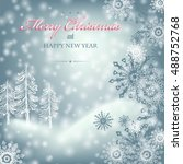 holiday christmas background... | Shutterstock .eps vector #488752768