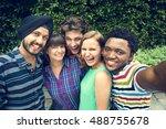 groupie together teamwork... | Shutterstock . vector #488755678