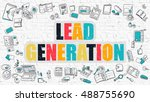 lead generation concept. lead... | Shutterstock . vector #488755690