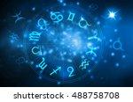 horoscope wheel | Shutterstock . vector #488758708