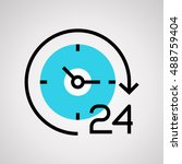 time icon  clock vector... | Shutterstock .eps vector #488759404