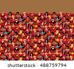 auditorium audience hall large... | Shutterstock .eps vector #488759794