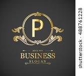 elegant p logo | Shutterstock .eps vector #488761228