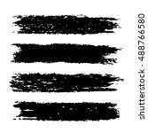 vector set of grunge brush... | Shutterstock .eps vector #488766580