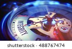 vintage pocket watch face with... | Shutterstock . vector #488767474