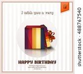 happy birthday greeting card...   Shutterstock .eps vector #488767540