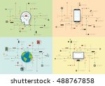 internet and networks design... | Shutterstock .eps vector #488767858
