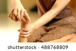 thai hand massage  spa concept | Shutterstock . vector #488768809