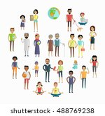 people of the world  concept in ... | Shutterstock . vector #488769238