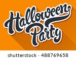 halloween party hand drawn... | Shutterstock .eps vector #488769658
