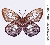 beautiful butterfly.isolated... | Shutterstock .eps vector #488769814