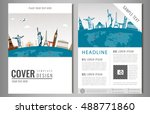 travel flyer design with famous ... | Shutterstock .eps vector #488771860
