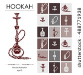 hookah labels  badges and... | Shutterstock .eps vector #488771938