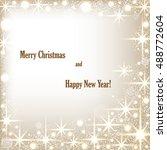 beautiful beige background with ... | Shutterstock .eps vector #488772604