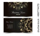 elegant vector business card... | Shutterstock .eps vector #488774470
