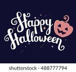 vector halloween illustration... | Shutterstock .eps vector #488777794
