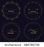 round vintage frame collection... | Shutterstock .eps vector #488780734