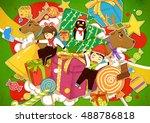 shenzhen school uniform  ... | Shutterstock . vector #488786818
