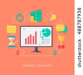 analysis symbols and diagrams.... | Shutterstock .eps vector #488787958