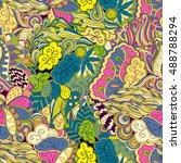 tracery seamless calming... | Shutterstock .eps vector #488788294