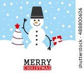 merry christmas card. vector...   Shutterstock .eps vector #488800606