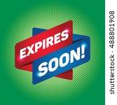 expires soon  arrow tag sign. | Shutterstock .eps vector #488801908